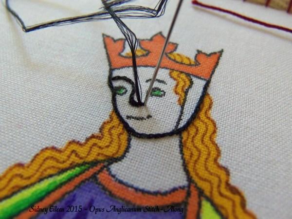 Opus Anglicanum Stitch-Along 024, by Sidney Eileen