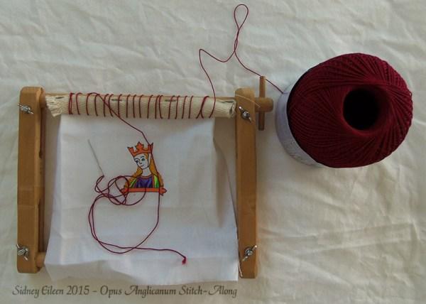 Opus Anglicanum Stitch-Along 03, by Sidney Eileen