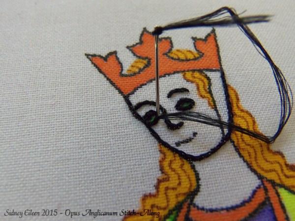 Opus Anglicanum Stitch-Along 031, by Sidney Eileen