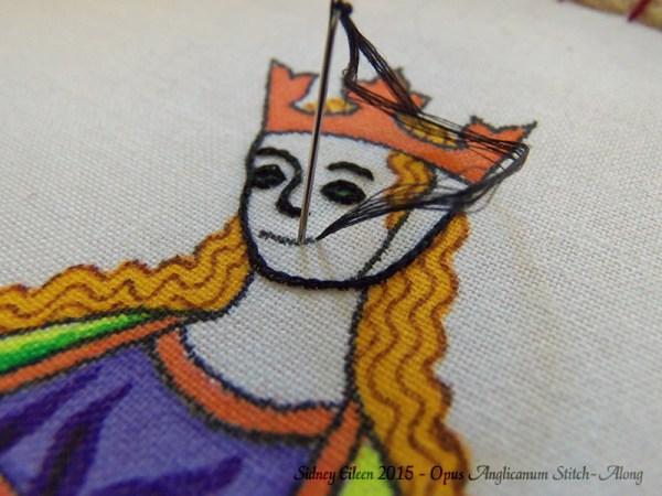 Opus Anglicanum Stitch-Along 032, by Sidney Eileen