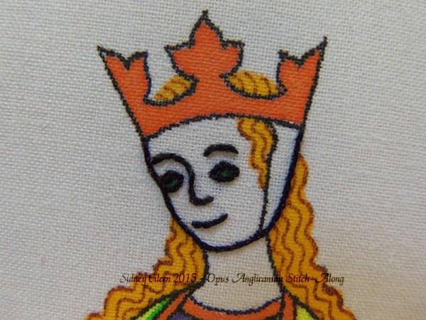 Opus Anglicanum Stitch-Along 033, by Sidney Eileen