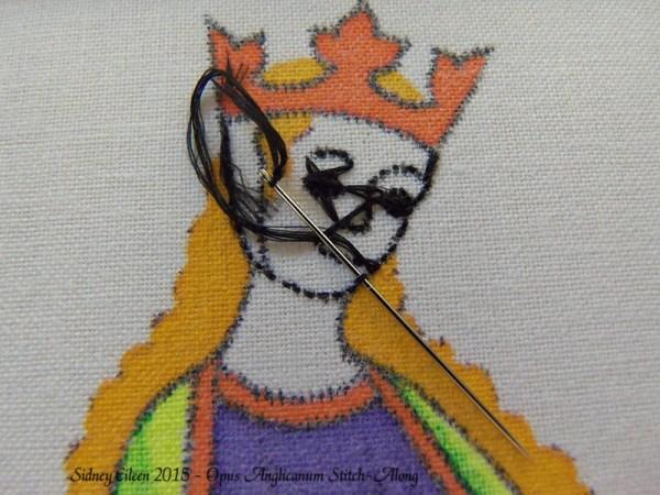 Opus Anglicanum Stitch-Along 036, by Sidney Eileen