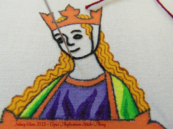 Opus Anglicanum Stitch-Along 043, by Sidney Eileen