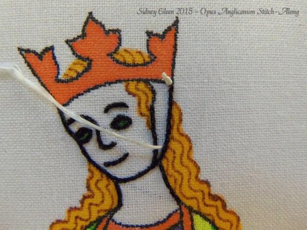 Opus Anglicanum Stitch-Along 046, by Sidney Eileen