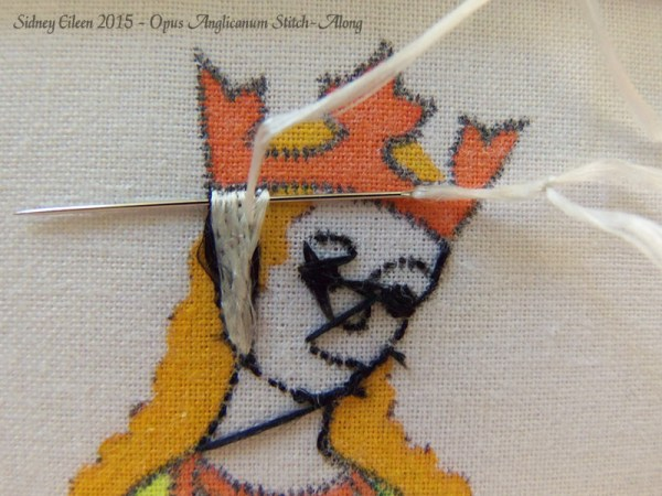 Opus Anglicanum Stitch-Along 055, by Sidney Eileen