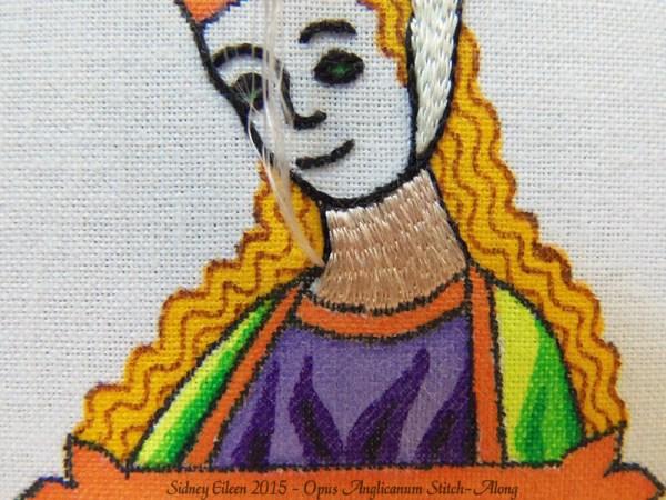 Opus Anglicanum Stitch-Along 066, by Sidney Eileen