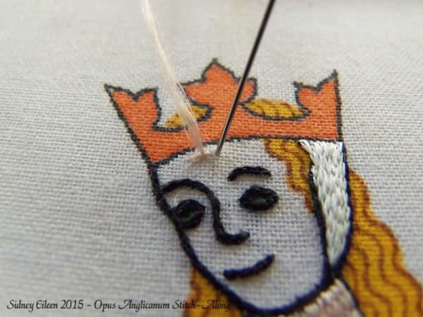 Opus Anglicanum Stitch-Along 071, by Sidney Eileen