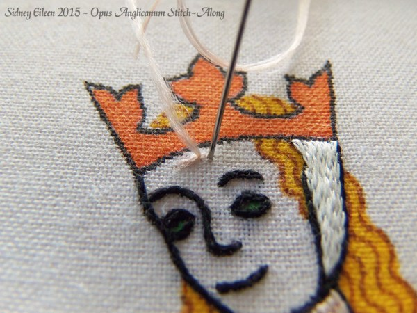 Opus Anglicanum Stitch-Along 072, by Sidney Eileen
