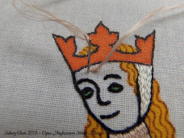 Opus Anglicanum Stitch-Along 075, by Sidney Eileen
