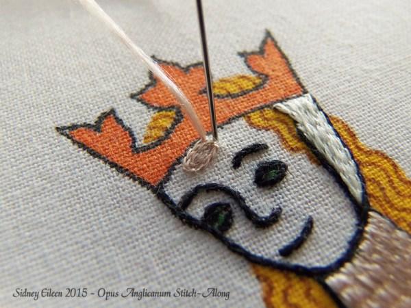 Opus Anglicanum Stitch-Along 080, by Sidney Eileen