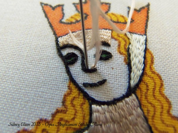 Opus Anglicanum Stitch-Along 090, by Sidney Eileen