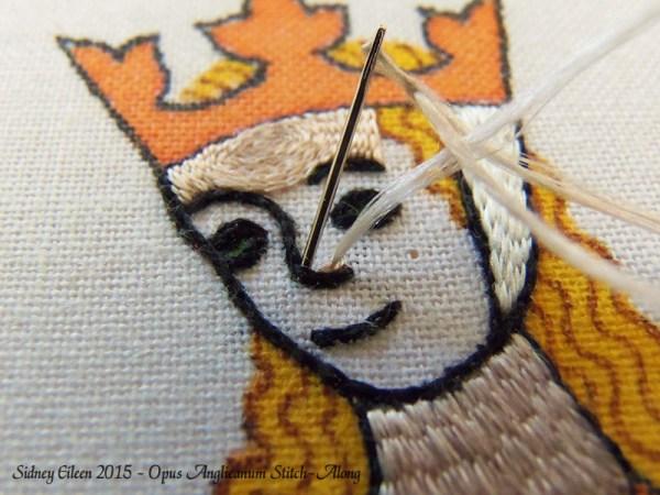 Opus Anglicanum Stitch-Along 091, by Sidney Eileen