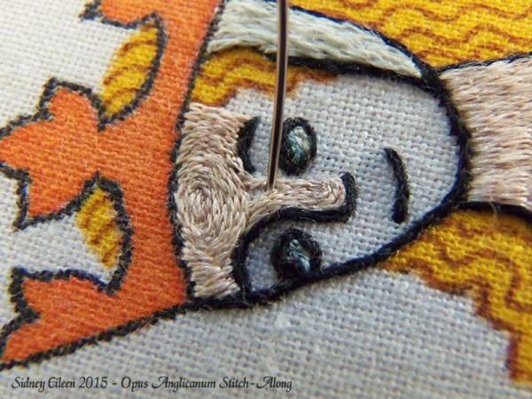 Opus Anglicanum Stitch-Along 099, by Sidney Eileen