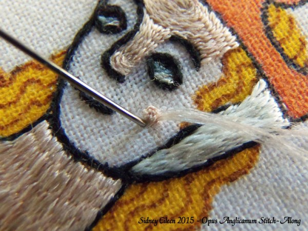 Opus Anglicanum Stitch-Along 105, by Sidney Eileen