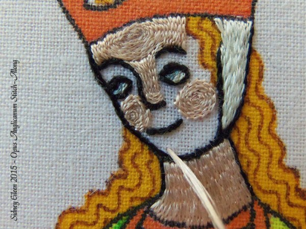 Opus Anglicanum Stitch Along - 124, by Sidney Eileen