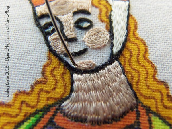 Opus Anglicanum Stitch Along - 126, by Sidney Eileen