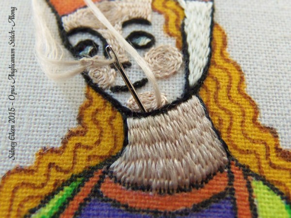Opus Anglicanum Stitch Along - 127, by Sidney Eileen