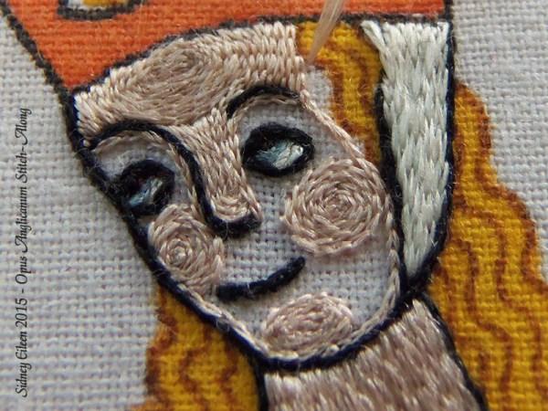 Opus Anglicanum Stitch Along - 137, by Sidney Eileen