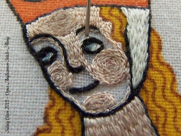 Opus Anglicanum Stitch Along - 143, by Sidney Eileen