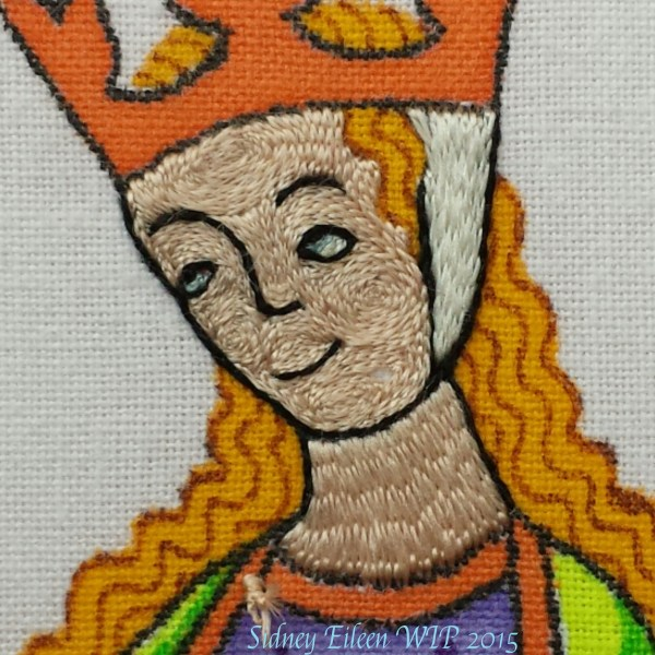 Aborting the Opus Anglicanum Stitch-Along, because OMG, did I screw the pooch on the eyes.
