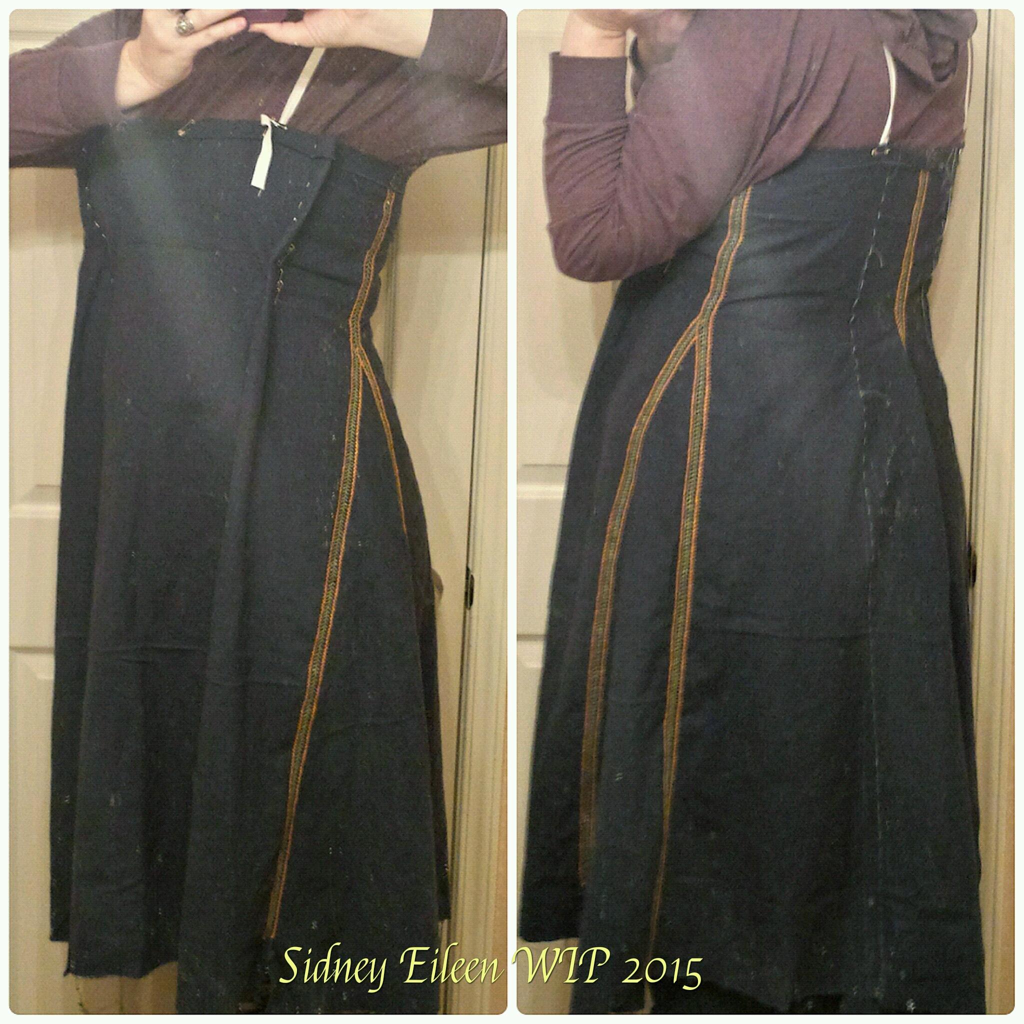7c15b4e34c1 Dark Blue Linen Viking Apron Dress - WIP1 - By Sidney Eileen