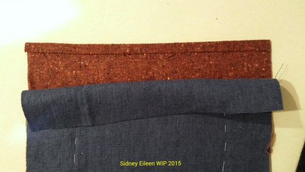 Lined Skjold Harbour Style Viking Hood - wip4, by Sidney Eileen, Press the seam allowance on two adjacent sides of one of the gores.