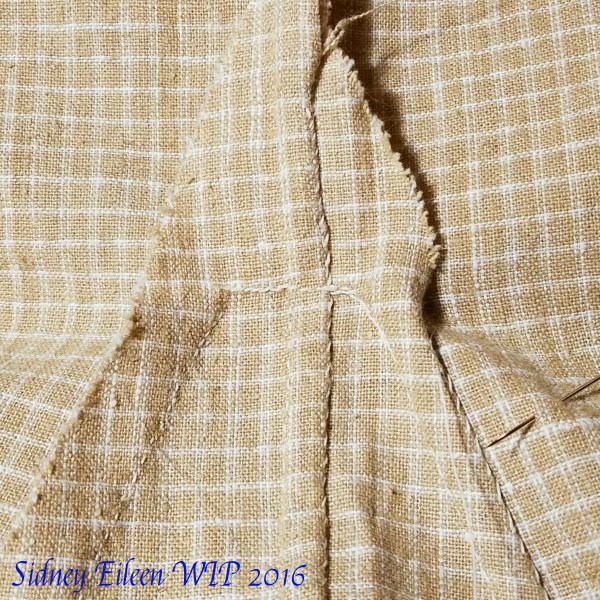 How to Hand Sew Gores on Medieval Garb - 5, by Sidney Eileen. Start at one hem and work your way up the gore finishing off your seam allowance.
