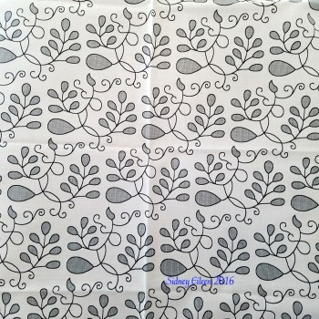 Detailed Elizabethan Blackwork Barberry on Spoonflower Fabric by Sidney Eileen