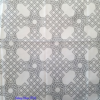 Elizabethan Blackwork Knotwork on Spoonflower Fabric by Sidney Eileen