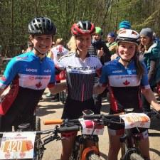 Fan girl photo with Jolanda Neff at a race in Bad Säckingen, Germany. April 2016. Blog post.