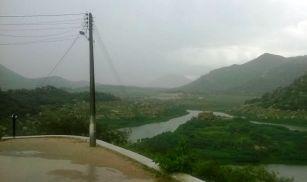 Chuva é registrada no açude Gargalheiras