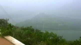 Chuva no açude Gargalheiras