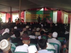 Silaturahmi kyai kampung se Sidoarjo ahlusunna wal jamaah di Ponpes Al-Khoziny mendukung Jokowi-JK