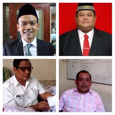 Ketua DPRD Sidoarjo Sullamul Hadi Nurmawan, wakil ketua Taufik Hidayat Triyudhono, M.Rifai dan Emir Firdaus