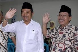 Bupati Sidoarjo Saiful Ilah dan Wakil Bupati Sidoarjo Hadi Sutjipto