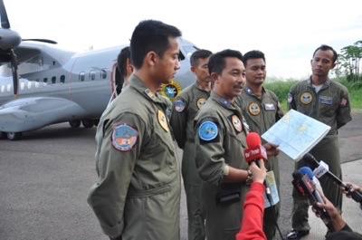 Tim dari TNI-AL saat akan menjelajah perairan Babel mencari pesawat Air Asia