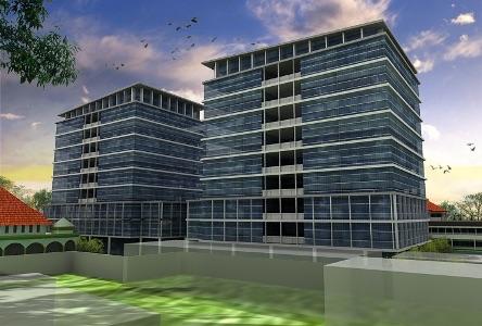 Maket gedung pemkab delapan lantai