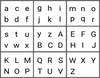 英文字母大小寫字卡 PDF 檔Roboto