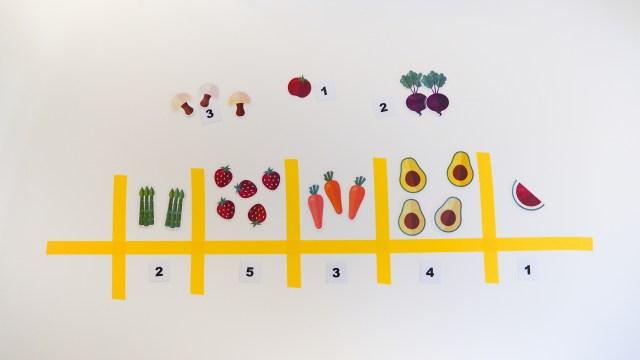 DIY 蔬果數字遊戲 Number Macth