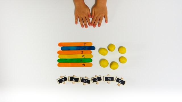 冰棒棍、黏土與夾子小遊戲