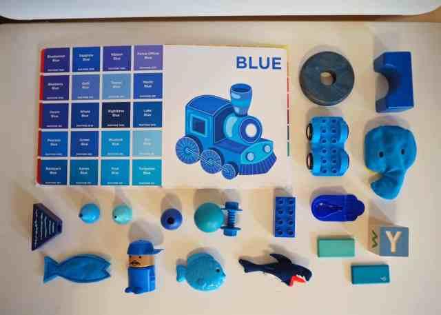 認識色票顏色小遊戲-藍色