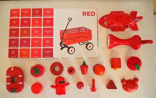 認識色票顏色小遊戲-紅色