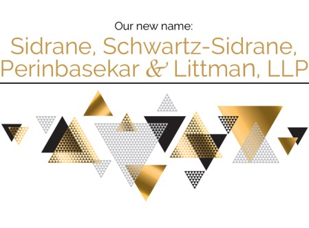 Sidrane, Schwartz-Sidrae, Perinbasekar & Littman, LLP name change