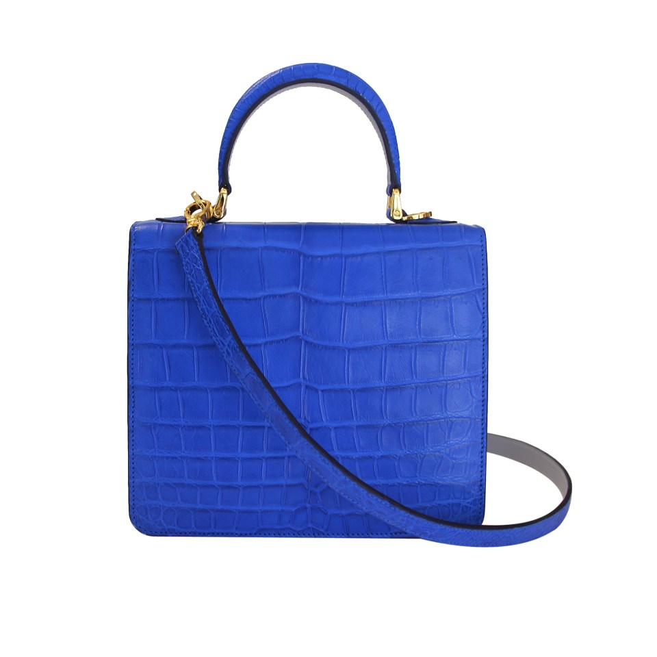 'Square F' in Electric Blue CROCO