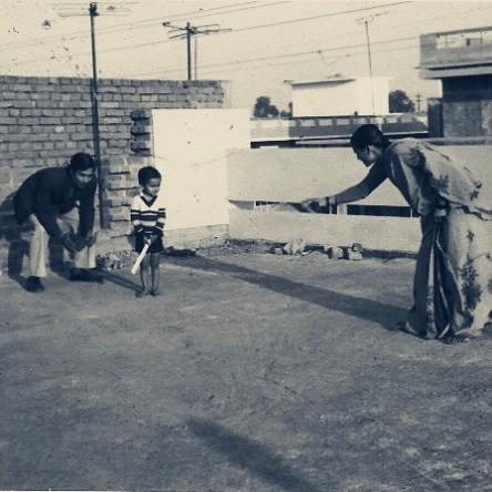 Siddharth with parents in 1983-84