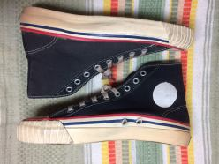 1950s Keds black cancas hi-tops