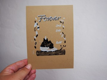 Forever print, 2014, Linocut, 13x18cm, Limited Edition