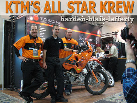 ktm all stars harden, blais and lafferty