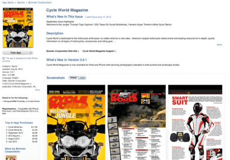 Cycle World's new iTunes app is a game changer