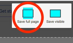 save full page option